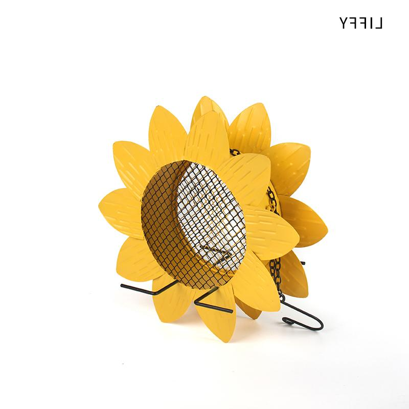 Liffy Sunflower <font><b>Metal</b></font> Mesh Bird Birds Finches and House Decoration