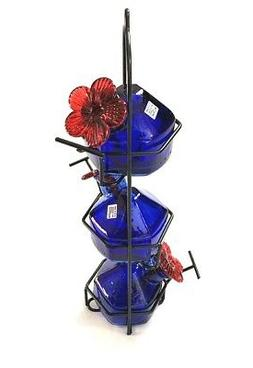 Lunchpail 3 Hummingbird Feeder Blue