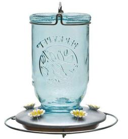 Mason Jar Glass Hummingbird Feeder Nectar Unique Decorative