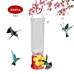 EJWOX Mini Humming Bird feeders, Set of 4, Including Hanging