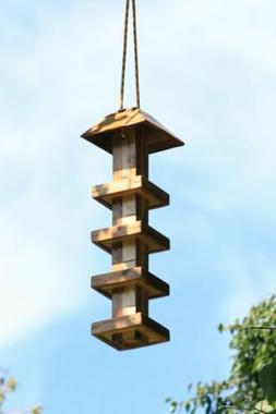 Multi-Tier Cedar Birdfeeder Bird Feeder Farm Homestead Pagod