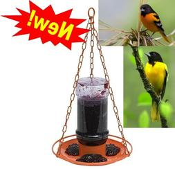Perky-Pet 253 Oriole Grape Jelly Wild Bird Feeder Jar hummin