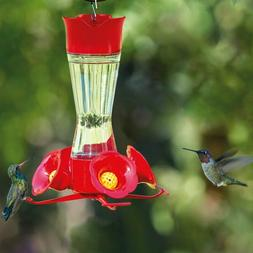 Perky-Pet Clear Pinch Waist Glass Hanging Hummingbird Feeder