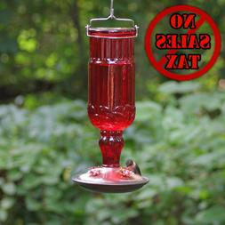 Perky Pet Red Antique Bottle Hummingbird Feeder Patio Lawn G