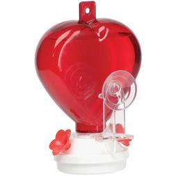 Audubon 12 oz RED HEART-SHAPED WINDOW MOUNT HUMMINGBIRD FEED