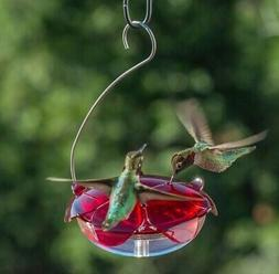 Droll Yankees Hummingbird Feeder with Hanger, Ruby Slipper R