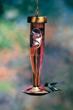 Schrodt Ruby Etched Lantern Hummingbird Bird Feeder