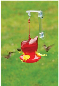 sebco312w window red bird hummingbird feeder set