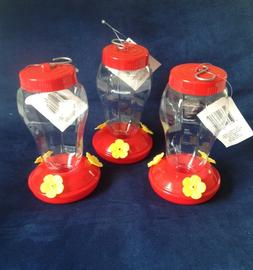 set of three hummingbird feeders plastic