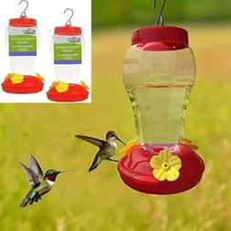 TWO  QUALITY HUMMINGBIRD FEEDER GARDEN COLLECTION - FAST FRE