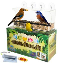 Entirely Zen Superior Window Bird Feeder Has 2 Way Mirror Fi