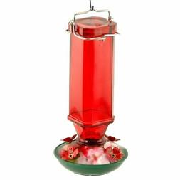 Audubon/Woodlink Glass Humminbird Feeder 16 Ounce Red NA3524