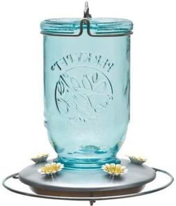 New Woodstream 785 Glass Mason Jar 32oz Hummingbird Bird Fee